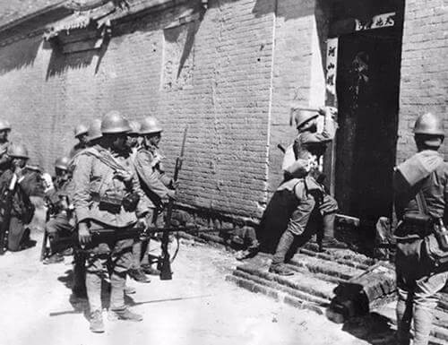 China was invaded by its neighbor, Japan.